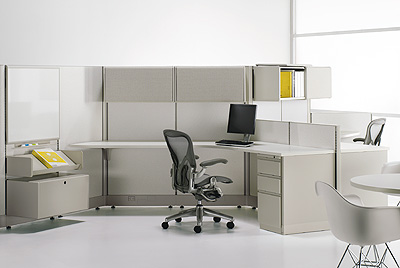 Action Office 2 in 120 degree configuration