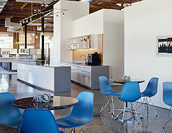 Coffee Bar with Eames tables and chairs